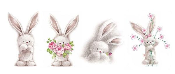 Водорастворимая бумага Кролик длинноухий
