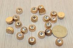 Кабошон мини Стразы, пластиковый, 8- 9 мм, 1 шт.