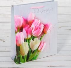 Пакет ламинированный вертикальный «С 8 марта!», S 12 × 15 × 5,5 см