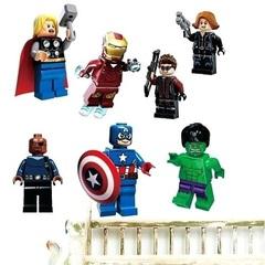 Мстители Лего 3D наклейка