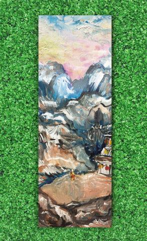 Коврик для йоги Tibet 178*61*0,1-0,3 см из микрофибры и каучука