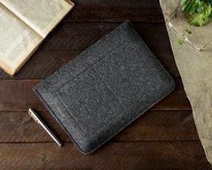 Чехол-конверт для Macbook черно-серый