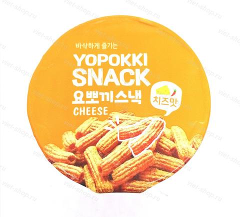 Снэк сырный вкус YOPOKKI SNACK CHEESE, Корея, 50 гр.