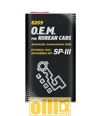 Mannol 8209 O.E.M. for KOREAN CARS (SP-III) 4л