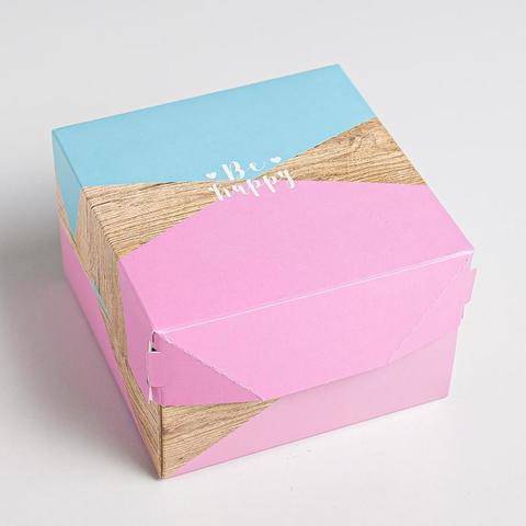 Коробка из картона «Счастье», 12  8  12 см