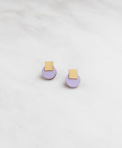 Серьги Mini Sol Studs Lilac
