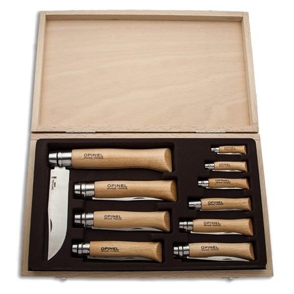 Набор Opinel из 10 ножей разных размеров