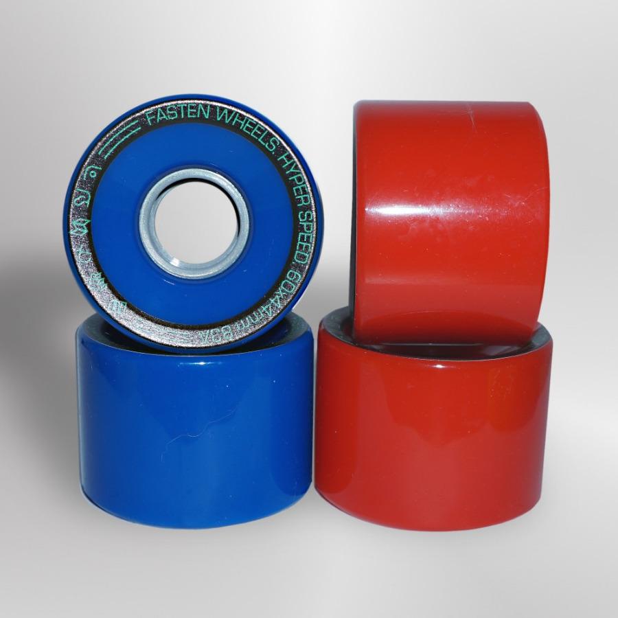 Колёса для скейтборда FASTEN Hyperspeed 83A (Blue/Red)