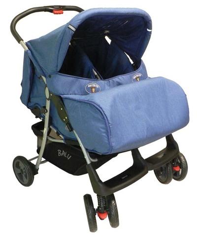 BALU PL - Джинс (Прогулочная коляска для двойни)