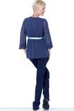 Блузка для беременных 01382 зеленый