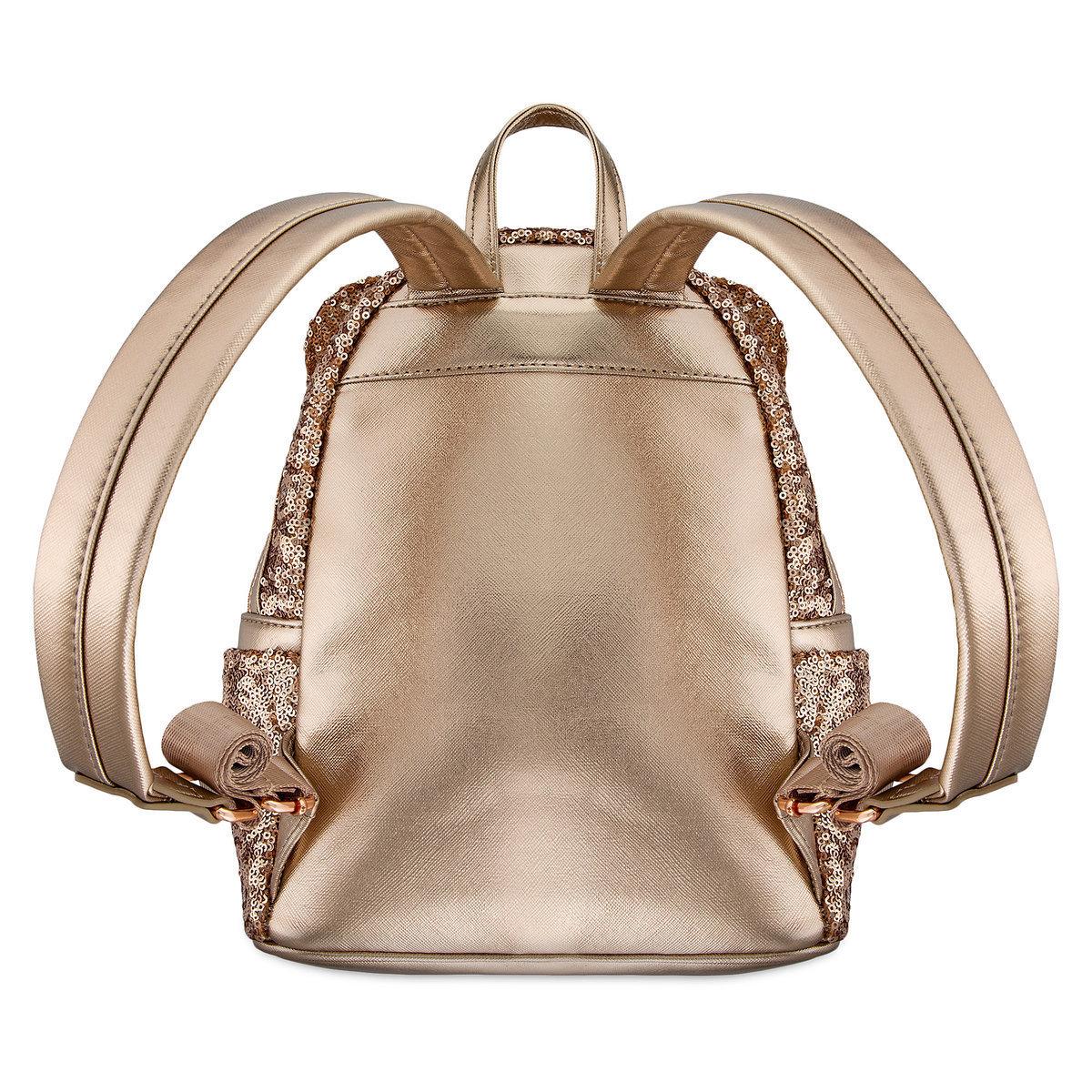 Женский рюкзак с пайетками «Минни» розовое золото Дисней от Loungefly