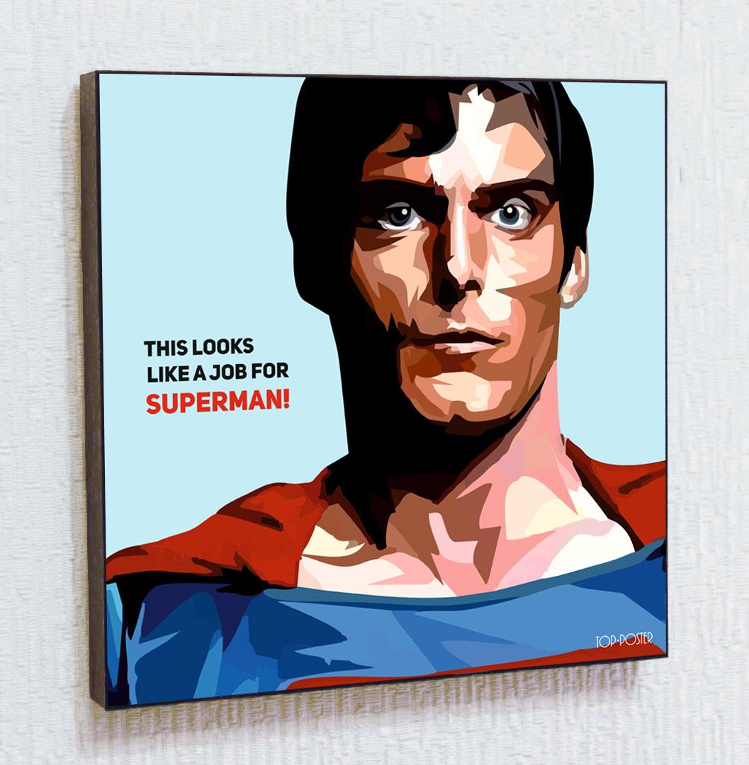 Супермен Картина ПОП-АРТ портрет постер