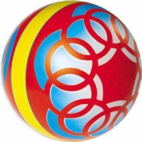 Мяч 150 мм, окрашен по трафарету