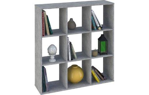Стеллаж Polini Home Smart Кубический 9 секции, бетон