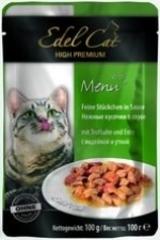 Пауч для кошек Edel Cat нежные кусочки в соусе, индейка, утка
