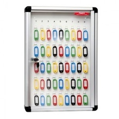 Шкаф для ключей Onix K-45 серебристый (на 45 ключей, металл/стекло)