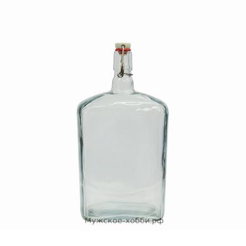 Бутылка с бугельной пробкой 1,75 л, прозрачная