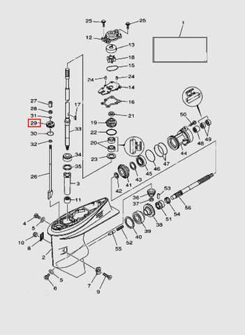 Пластина для лодочного мотора T40 Sea-PRO (23-29)
