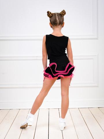 Юбочка для танцев с тремя воланами и регилином