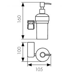 Дозатор для жидкого мыла настенный Kaiser Glory KH-1510 схема