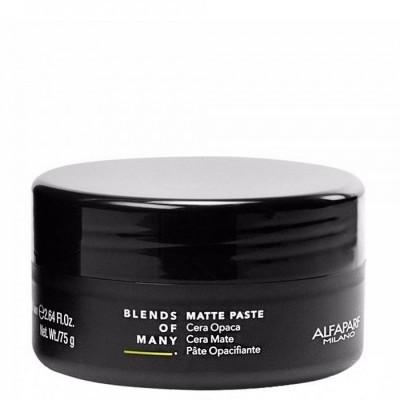 Alfaparf Milano Blends Of Many: Матовая паста средней фиксации для волос (Matte Paste), 75мл
