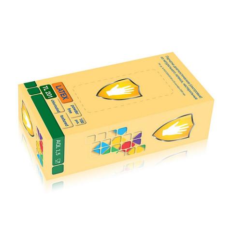 Мед.смотров. перчатки латекс., нест, н/о, текс. TL 201 L 50пар/уп