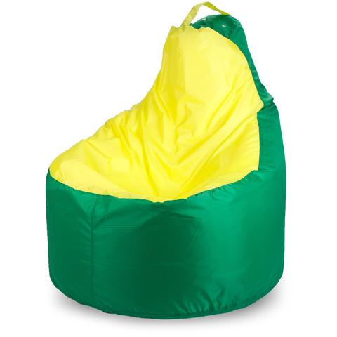 Пуффбери Внешний чехол Кресло-мешок комфорт  145x90x90, Оксфорд Зеленый и желтый