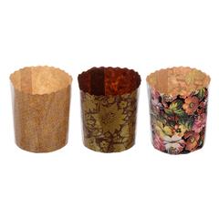 Набор бумажных форм для выпечки куличей «Пасхальный» 70х85 мм, 3 шт