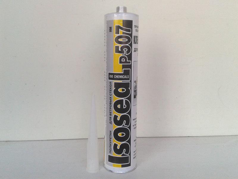 Герметик полиуретановый для лобовых стёкол Isoseal P507, 310 мл. Цвет чёрный