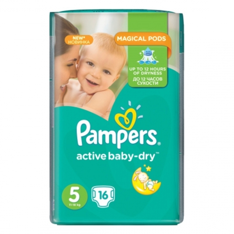 Подгузники PAMPERS Activ Baby S5 16 шт