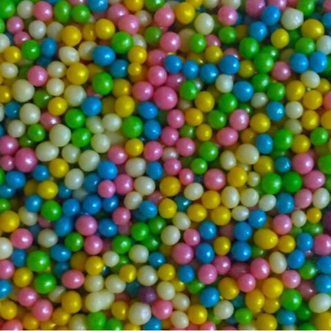 Посыпка РИС ВОЗДУШНЫЙ 50гр МИКС (розовый, голубой, зеленый, желтый, белый)