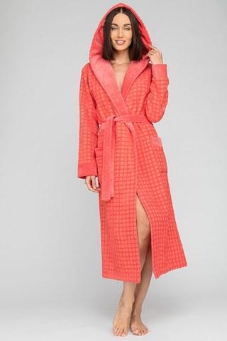 Махровый халат с капюшоном Ultra Doux (PM France 741) коралл