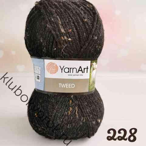 YARNART TWEED 228, Черный