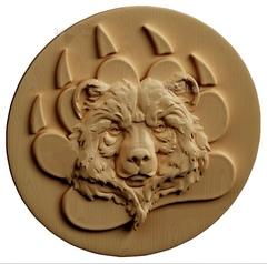 Силиконовый молд № 451  Медальон медведь