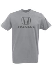 Футболка с принтом Honda (Хонда) серая 002