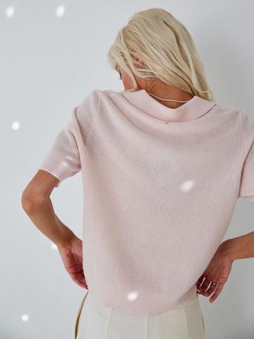 Поло из кашемира розовый