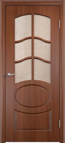 Дверь Верда Неаполь, цвет итальянский орех, остекленная