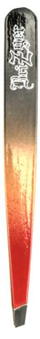 Пинцет красно-черный металлический купить за 250руб