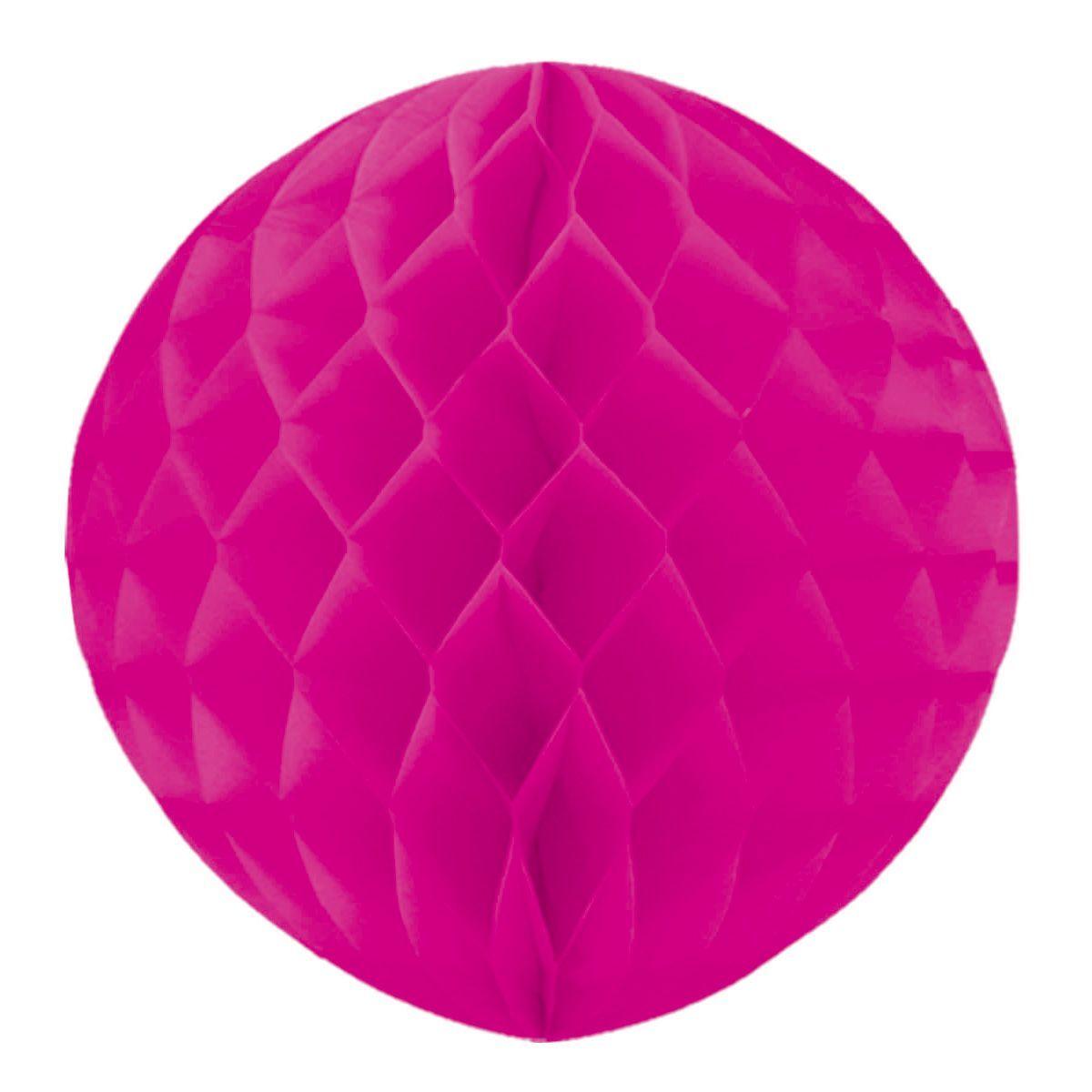 Бумажный шар Ярко-розовый 30см