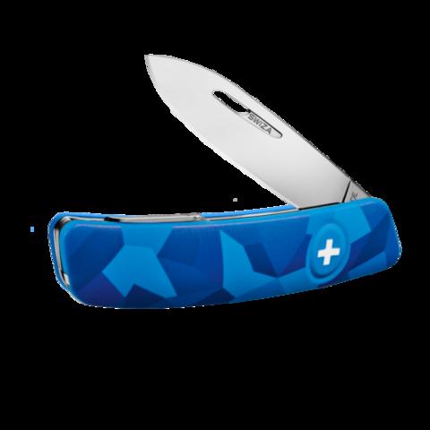 Швейцарский нож SWIZA C01 Camouflage, 95 мм, 6 функций, синий