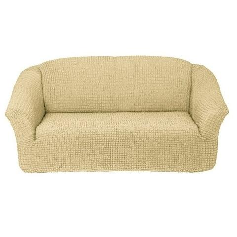 Чехол на 3-х местный диван бежевый без оборки.