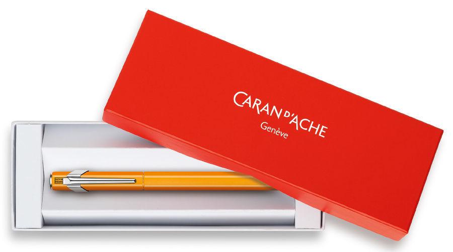 Carandache Office 849 Fluo - Yellow Green Fluo, перьевая ручка, F, подарочная коробка