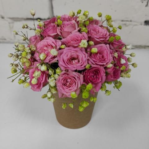 Композиция цветы в стакане №5