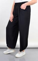 Фантазія. Літні жіночі штани великий розмір. Чорний.