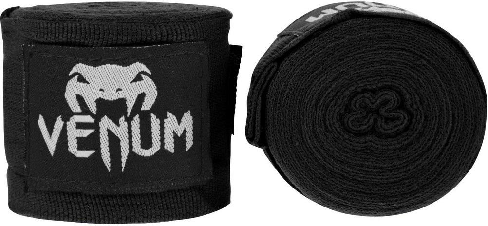 Капы и бинты Бинты для бокса Venum Kontact 4m - Black 1.jpg