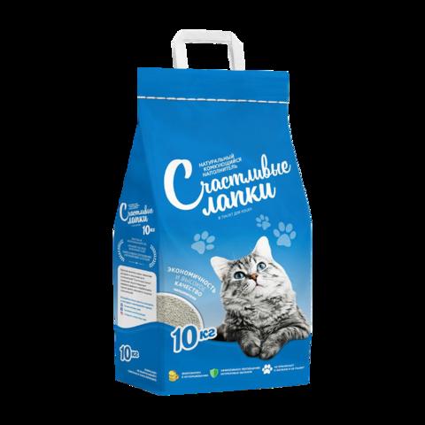 Счастливые лапки Наполнитель для туалета кошек комкующийся