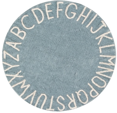 Ковер Lorena Canals Alphabet Round ABC Blue (150D)