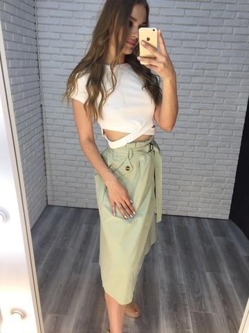 длинная зеленая юбка недорого