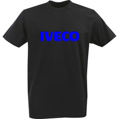 Футболка с однотонным принтом IVECO (Ивеко) черная 005