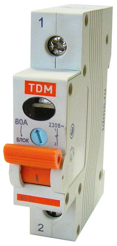 Выключатель нагрузки (мини-рубильник) ВН-32 1P 100A TDM